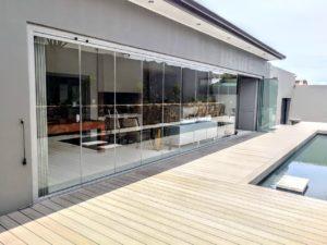 Patio renovation - frameless glass